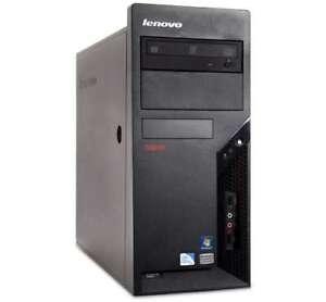 Wireless Lenovo Business Class Midtower PC,C2D 3GHz/2G/160G/HDMI