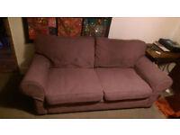 Purple corduroy sofa