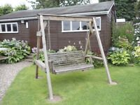 Wooden swing seat for your garden or patio.