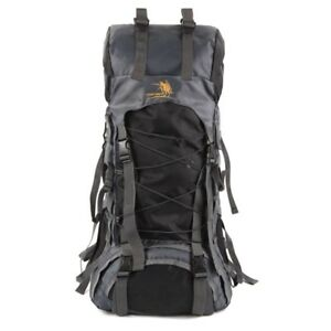Nylon Rucksack Backpack Bag - 60L - Black