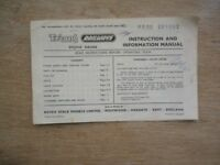 Triang Railways Instruction And Information Manual 21st Edition (R253 281262)