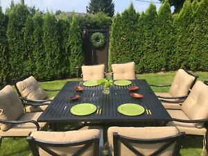 Outdoor Dining Set - Table and 9 Chairs