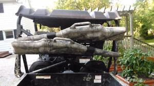 UTV double gun rack.
