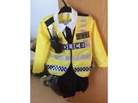 Children's fancy dress police uniform