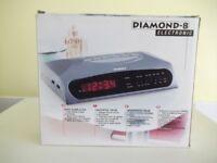 DIAMOND-8 RADIO ALARM CLOCK - NEW - STILL IN BOX