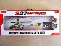 NEW~SYMA S37 RAPTOR 3CH 2.4G RC RADIO Remote Control Large HELICOPTER