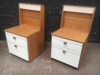 Fabulous pair of mid century 1970s bedside cabinets