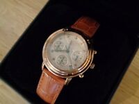Krug Baumen - 150575DL 'Principle' Diamond Ladies Rose Gold Chronograph Watch NEW & Boxed - RRP £169