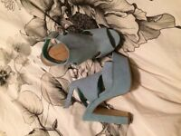 Newlook pale blue heels. UK Size 5