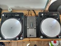 Decks and mixer