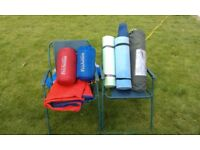 ProAction Monodome Super 1 Two Man Tent, double lilo, 2 sleeping bags and mats + 2 camping chairs