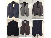 *BRAND NEW* 3 Topman Blazers & 3 Waist Coats 40inch