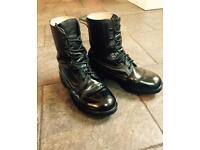 Black Army/Military Boots Size 9