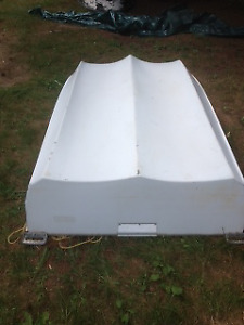 Dinghy comes with 2 HP outboard and oars