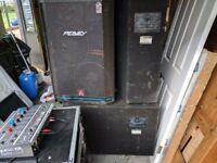 Peavey PA speakers / DJ Speakers / Disco equipment / Amplifiers