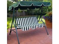 Garden patio swing with cushion - 3 seater