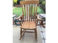 Traditional Pine Slatted Rocking Chair/Nursing Chair