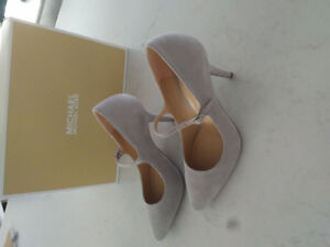 Stunning Michael Kors Grey suede Mary Jane heels