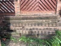 Reclaimed Railway Sleepers 2.6m Long Qty 21