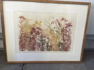 Beautiful copper etching limited edition print - incl frame