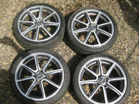 "Set of 17"" Alloy Wheels With Tyres 4 x 108 Stud pattern Peugeot 106 306 20mm Hubcentric Spacers Swap"
