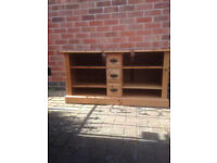 """Pine TV unit height 26"""" Width 50"""" depth 20"""" Buyer collects"""