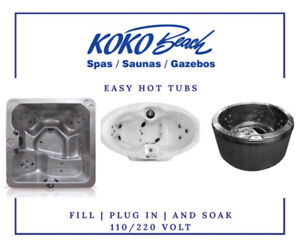 EASY HOT TUBS!! FILL , PLUG IN AND SOAK!
