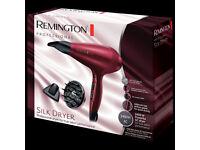 Remington AC9096 Silk Ceramic Professional Hair Dryer 2400W Red - Brand New