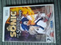 WII game Sonic and the Secret Rings