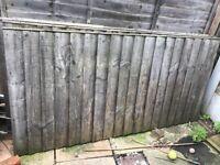 3ft wood garden panel