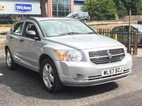 2007 DODGE CALIBER SXT - 5 Doors - AUTO - PETROL - SILVER *GREY LEATHERS/HEATED FRONT SEATS*