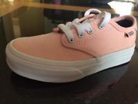Girls shoes size 10 Vans pumps