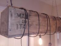 Industrial Vintage / Rustic Box Chandelier