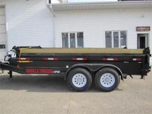 Double A 14 ft dump trailer