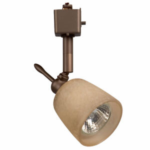 Galaxy Tea-Stained/Oil Rubbed Bronze Track Head Fixtures x6