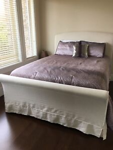 Upholstered Bed Frame - Queen Size