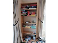 Simple pine effect shelving unit from IKEA