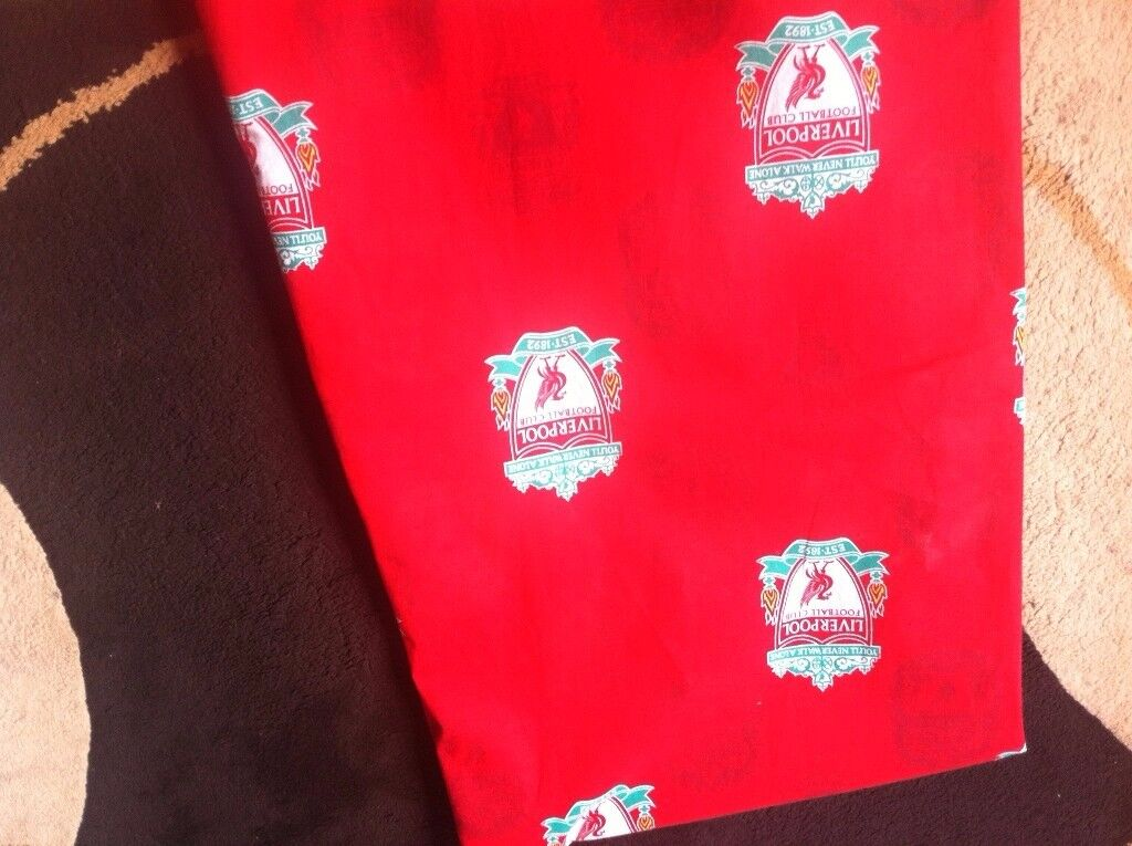 Football Liverpool Curtains 54 Drop 64 Wide Used Mint In
