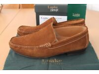 Men's Loakes Skipton Suede shoes moccasins in 9.5 (UK) lightly used.