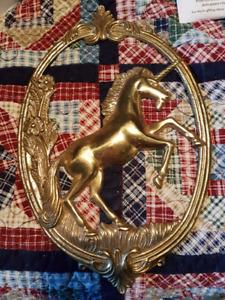 Brass Unicorn hanging art