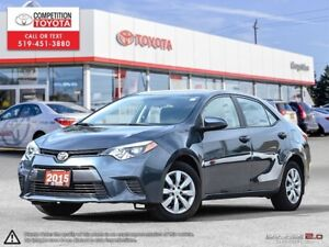 2015 Toyota Corolla LE Toyota Certified, One Owner, No Accide...