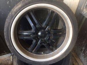 225-35ZR-20. Maxtrek tires with boss rims