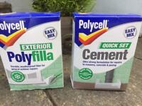 Polycell exterior filler and cement