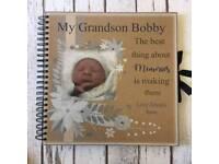 Personalised memories scrap book