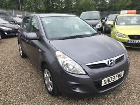 2009 Hyundai I20 1.2 Comfort 5dr FINANCE AVAILABLE/Low Mileage