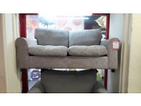 Grey Fabric 2 Seater Sofabed