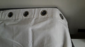 Curtains, white from John Lewis. Perfect condition