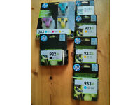 HP genuine unopened inkjet printer ink cartridges 933XL ; 932XL ; 363