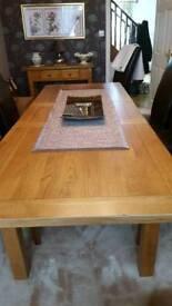 Oak Dining Table.