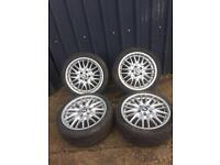 BMW e46 genuine msport mv1 18' alloys&tyres